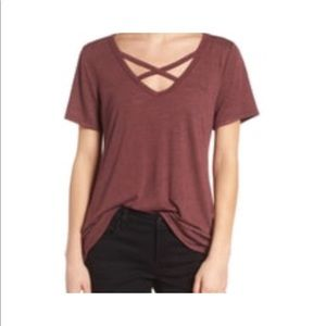 Socialite Strap Front Tee S $20